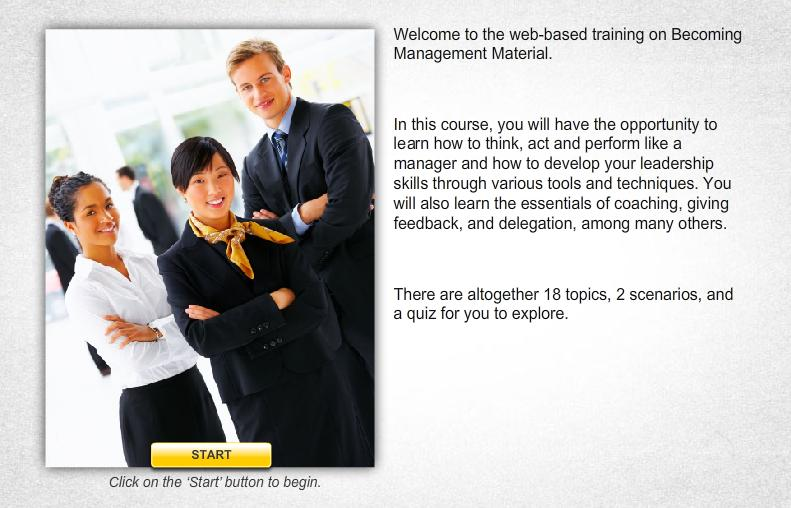 Becoming Management Material